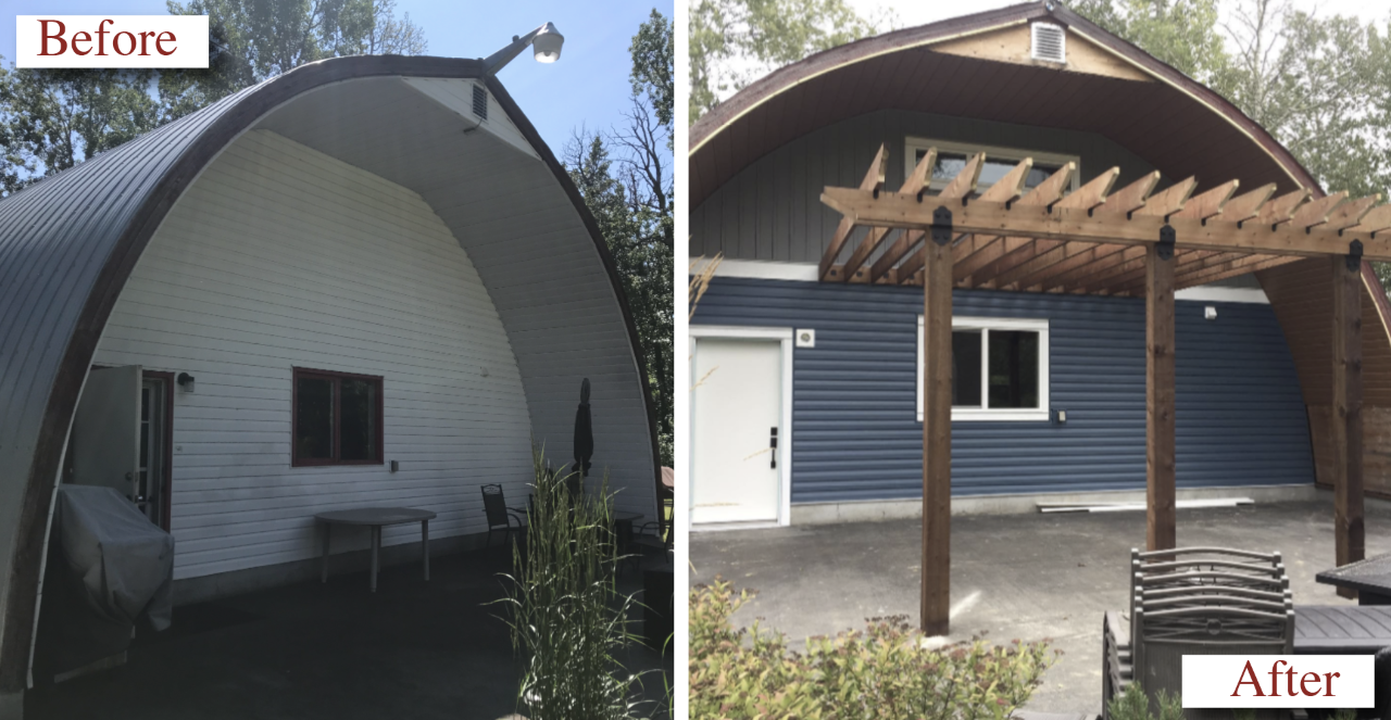 VNO Exteriors Ltd. Siding Contractor Before & After #1
