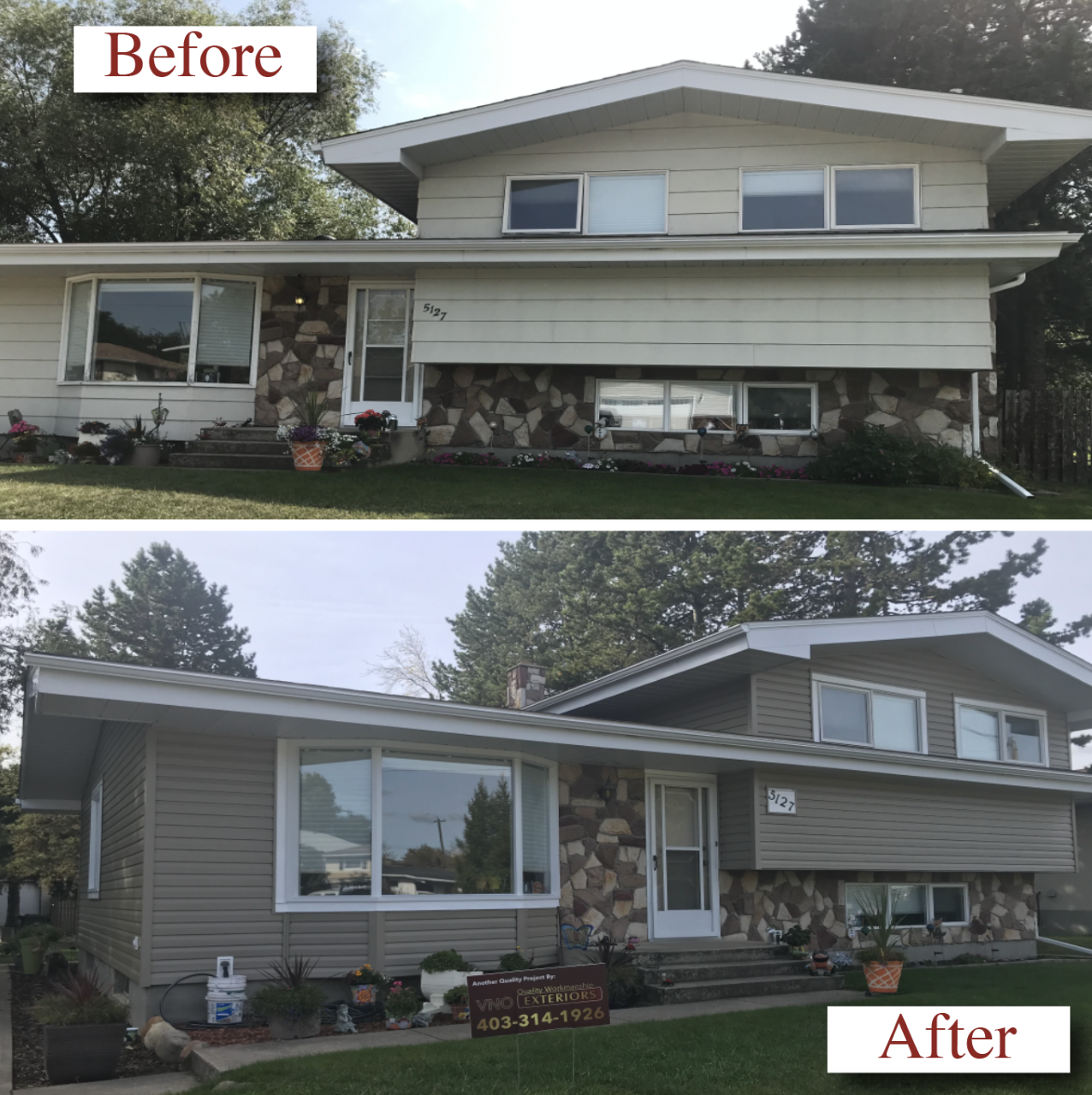 VNO Exteriors Ltd. Siding Contractor Before & After #2
